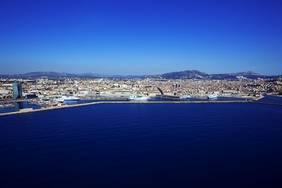 Vue aŽrienne, Grand Port Maritime de Marseille, Zone EuromŽditerranŽe, 2me arrondissement, Marseille, Bouches du Rh™ne (13), France