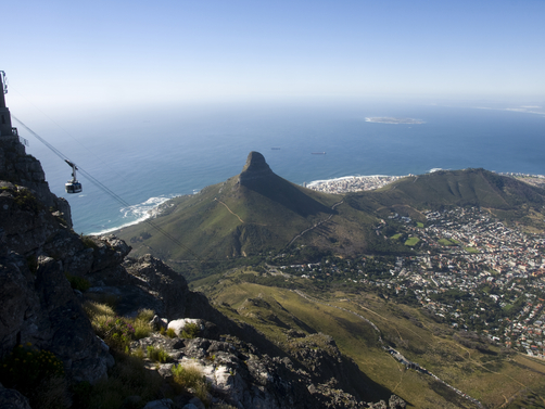 View of Cape Town from Table Mountain.
