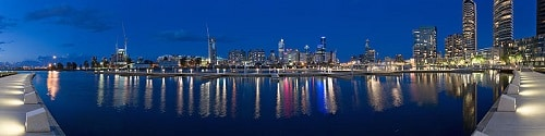 Docklands viewed at night (2005)