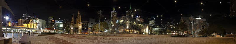Fed Square viewed at Night