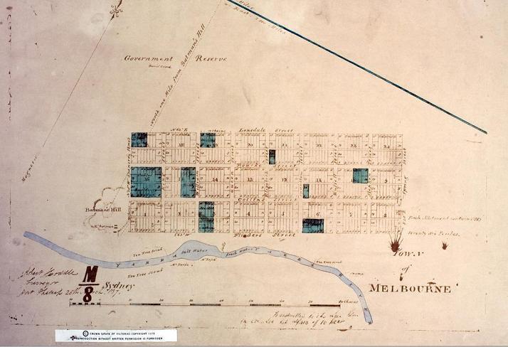 Hoddle Grid Plan 1837