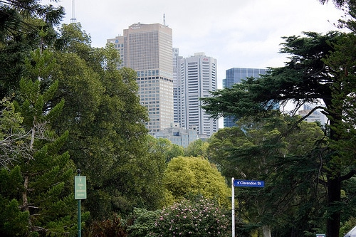 Melbourne skyline from Fitzroy Gardens