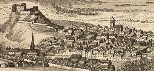 C18 perspective sketch of the Old Town