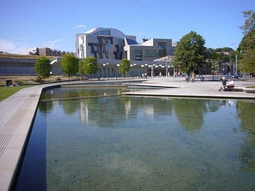 View of Scottish Parliament