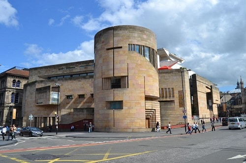 View of the Natial Museum of Scotland