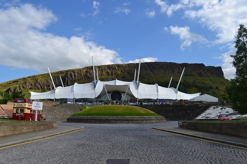 View of Dynamic Earth Edinburgh