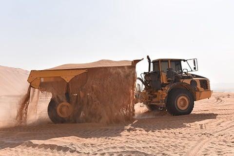 A35E gets sandy
