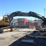 No slips up in banana warehouse demolition
