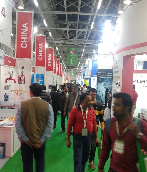bc India construction equipment show indoor