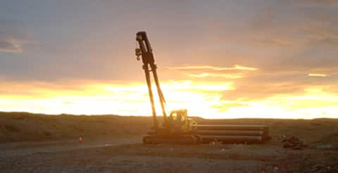 Working in the Argentinian sunset
