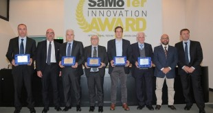The winner Fiori Group Spa and the awarded four special mentions Merlo Spa, Cangini Benne Srl, Blend Fbg Srl and Komatsu Italia Manufacturing Spa