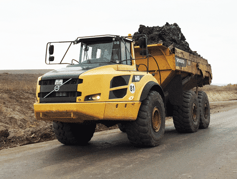 Volvo articulated haulers
