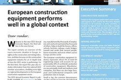 European construction equipment industry withstands uncertainties