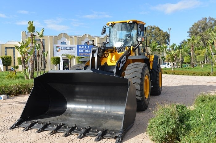 CFAO displays JCB vehicles in the outdoor area at The Big 5 Construct North Africa