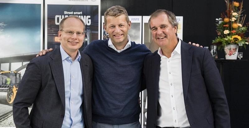 Håkan Agnevall, President of Volvo Buses, Melker Jernberg, President of Volvo CE,