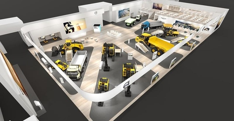 Volvo Exhibition Stand : Volvo looks to the electric future at bauma