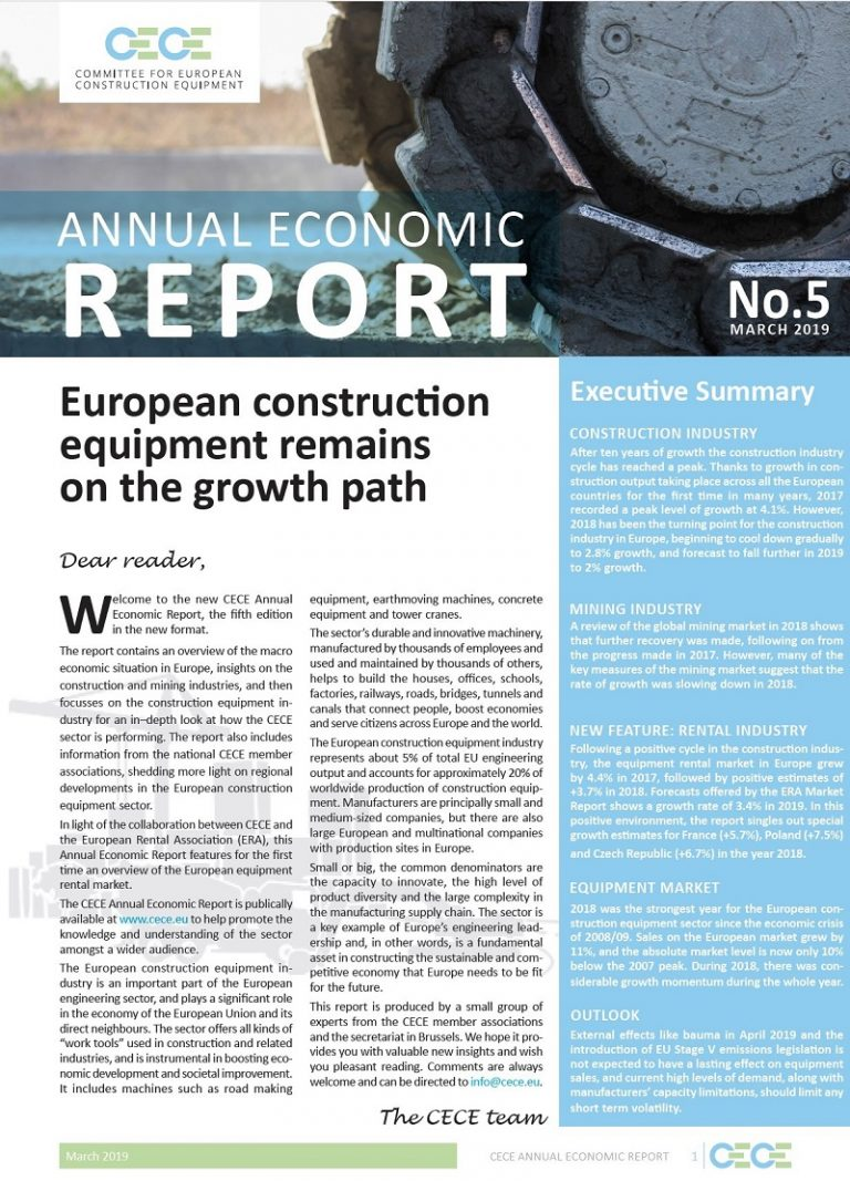 european construction equipment report cece