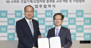 Hyundai CE has signed MOU with KT